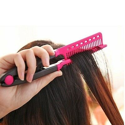 New Straight Hair Comb Brush Tool For Dry Iron Hair Curl to Straight Hair Shaper