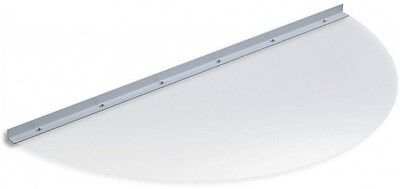 Ultra Protect 41 in. x 19 in. Semi-Round Clear Polycarbonate Window Well Cover