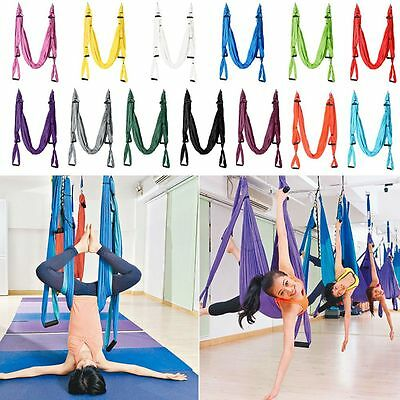 LARGE BEARING Flying Yoga Swing Sling Hammock Trapeze Gym Aerial Inversion Tool