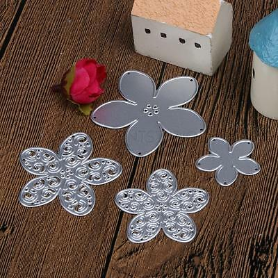 4 Flowers Metal Cutting Dies Stencil Scrapbook DIY Album Embossing Card Craft