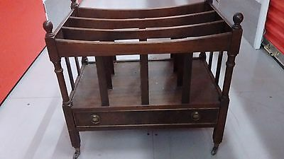 antique reproduction magazine rack with drawer