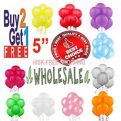 """5"""" inch small latex balloons WHOLESALE party birthday event wedding decorations"""