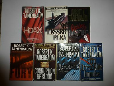 Lot of 7 Action Suspense Mystery by Robert K.  Tananbaum in Paperback