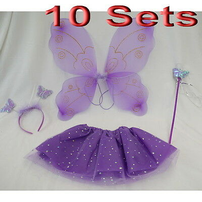 10 Sets Wholesale Kids Children Girls Party Dress 4pc Set