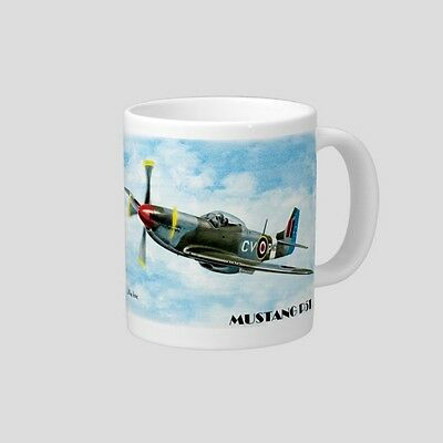 MUSTANG  P51   WORLD WAR II   FIGHTER PLANE        QUALITY  11oz.  MUG