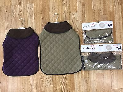 4 X Doodlebone Quilted Dog Coat Dog Jacket Wholesale Job Lot