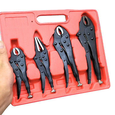 Pack of 4 X Heavy Duty Grip Wrench Set Vice Locking Lock Pliers Mole Grips Tools
