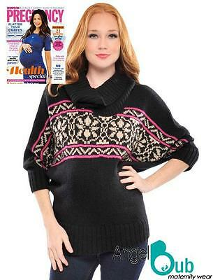 Olian Sabrina Slouch Cowl Sweater - Maternity Knitwear