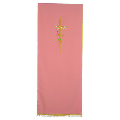 Rose Lectern Cover in polyester, cross and intertwined ears of wheat