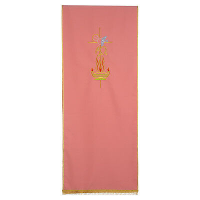 Rose Lectern Cover in polyester, cross, Alpha Omega, flames