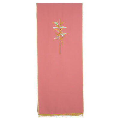 Lectern Cover in polyester with cross and ears of wheat, rose