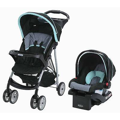 Graco LiteRider Click Connect Travel System, Car Seat and Lightweight Stroller,