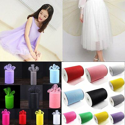 """6""""w x 100yd Soft Craft Tulle Roll for Wedding Festival Party UK HOT SA"""