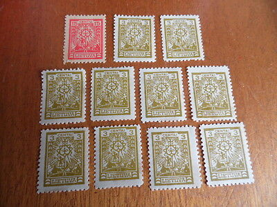 Lithuania ~ Sc#191 & 197 ~ Single & Multiple (MH)  ~ (1923)