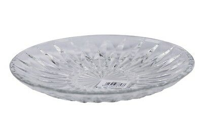 Crystal Effect Clear Glass Serving Plate Round Cake Plate 8inch Crystal Dish