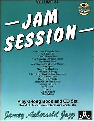Jam Session Sheet Music Book CDs All Instruments Play-Along Vol 34 Jazz S160