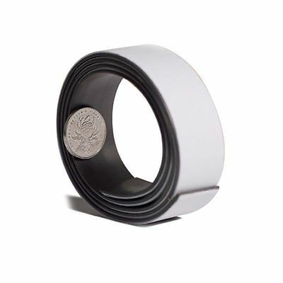 1m x 25mm Self Adhesive Magnetic Tape Rubber Flexible Craft Magnet Strip
