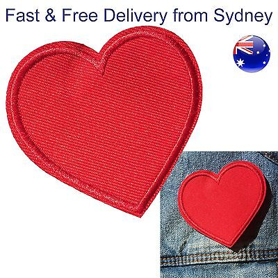 Love heart Iron on patch - Fast & free delivery for embroided deco for lovers