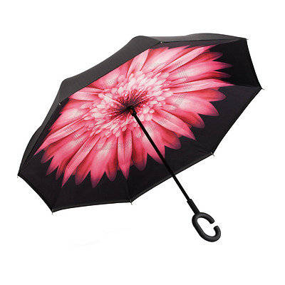 Ylovetoys Inverted Umbrella Double Layer Windproof Reverse Umbrella for Car and