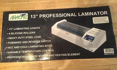 Apache Al13P Professional 13' Wide A3 4 Roll Laminator (Hot/cold)