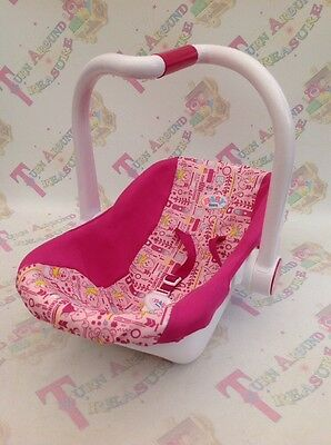 Baby Born Doll Carrier Car Seat Zapf Creations - Bright Pink - Ex Con