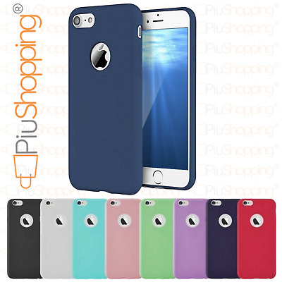 Cover Custodia Morbida Tpu Gel Silicone Per Iphone 7 8 Apple Slim Vari Colori