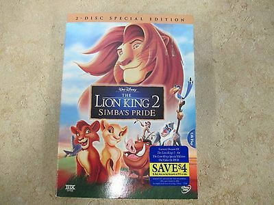 The Lion King 2 Simbas Pride Special Edition Dvd 2004 2 Disc Set Sealed 34 95 Picclick