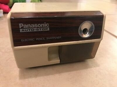Vintage PANASONIC Auto-Stop Electric Pencil Sharpener KP-110 SHIPS FAST!!!