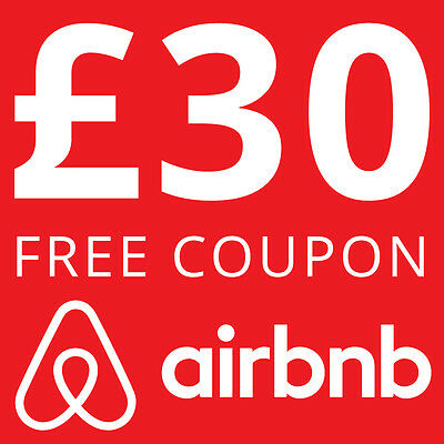 £30 Air BnB Voucher AirBNB Coupon discount code free