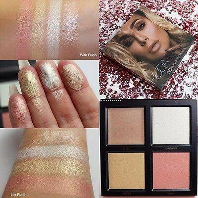 Huda Beauty PINK SANDS Edition 3D Highlighter Palette New Genuine Highlight Glow