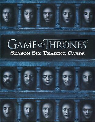 Game of Thrones Season 6 Six Collector Album Promo Card P3 Rittenhouse 2017