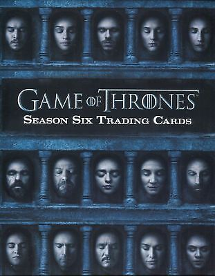 Game of Thrones Season Six Card Album