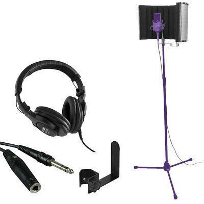 On Stage Stands WH4500 Pro Studio Headphones + Isolation Shield + Cable + Holder