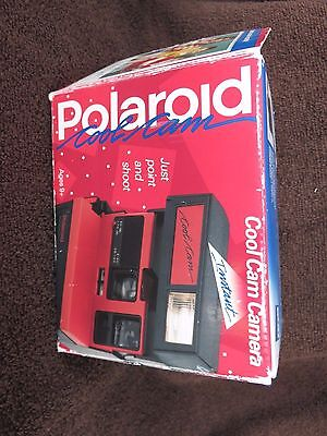 Vintage Polaroid Red and Black Cool Cam Instant Film Camera With Box