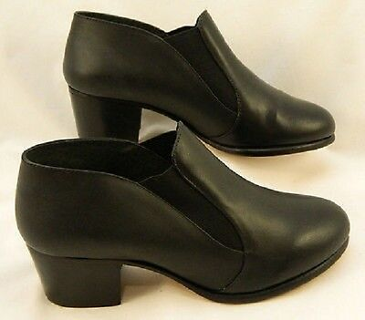 Capezio CG08 Black Adult Size 6.5 Medium Leather Slip-On Character Shoe