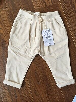 Zara Baby Girl Harem Trousers In Cream 6-9months