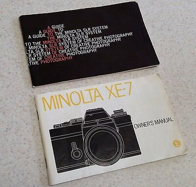 Vintage Minolta XE-7 Original Camera Manual and Guide to Minolta SLR System