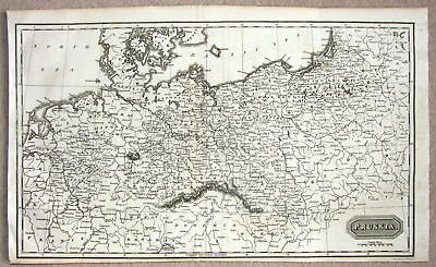 Kelly Original Copper Engraved Antique Map POLAND PRUSSIA GERMANY