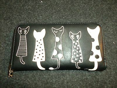 Black and white cat wallet