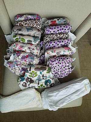 Happy Flute AIO NB New Born Cloth Diaper Lot Extra Insert - Bamboo Snaps