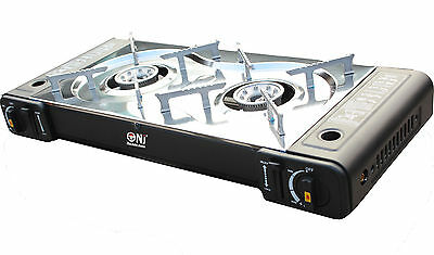 Portable Gas Stove Cooker 2 burners Camping Outdoor BBQ Caravan PS-268 New