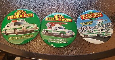 3 - Hess Buttons, 1993,1994,1995. New