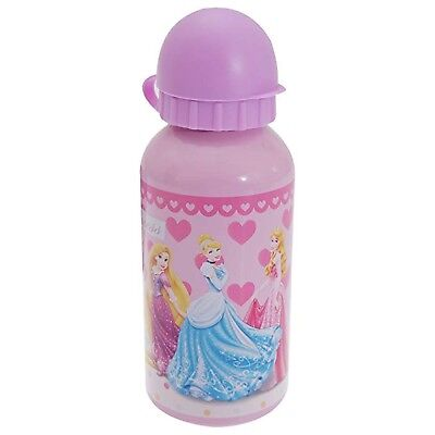 Official Disney Princess Moments 400Ml Aluminium Drinks Lunch Sports Bottle New