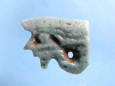 Ancient Egyptian 700~300 BC Late Kingdom Openwork Eye Of Horus Amulet. (A989B)