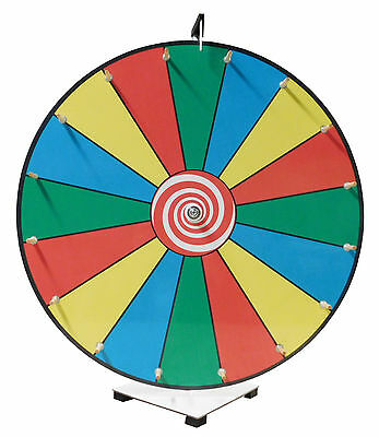 Prize Wheel 24 inch Customizable Face Classic Wooden Peg Design