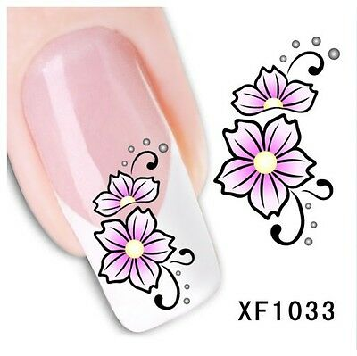 Stickers Ongles Water Décal Nail Art Fleur XF-1033 LIVRAISON 24/48H
