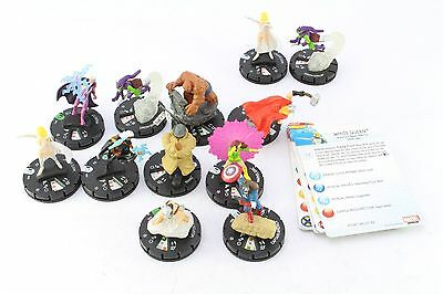 Heroclix Marvel 10th Anniversary Thor Magneto Thing Green Goblin Storm