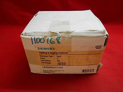 Siemens  Len00F003120A  Lighting And Heating Contactor 3-Pole 200Amp