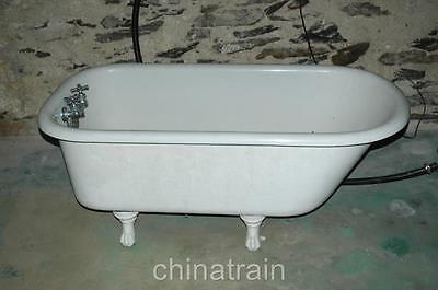 Antique American Standard 4-Footed 4.5 Foot Cast Iron Porcelain Bathtub Bath Tub