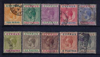 CYPRUS  Sc# 61a-70 MH/Used Cat.$119
